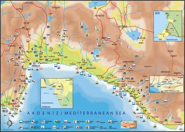 Турция Карта побережья