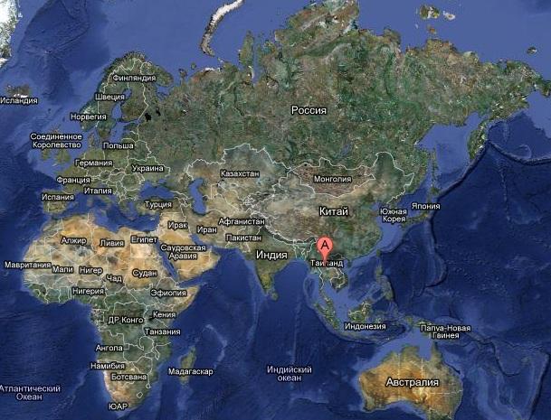 Таиланд на карте мира карта таиланда