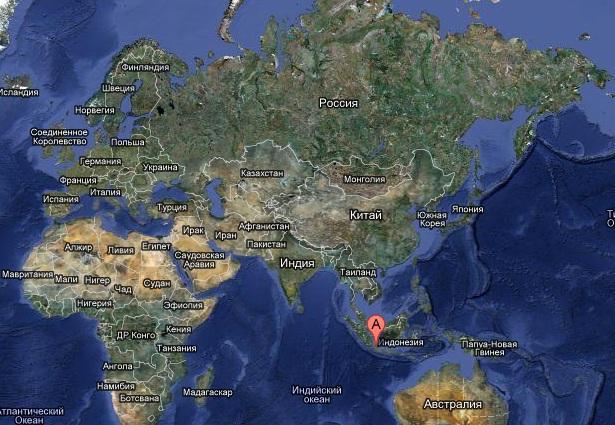 Индонезия на карте мира