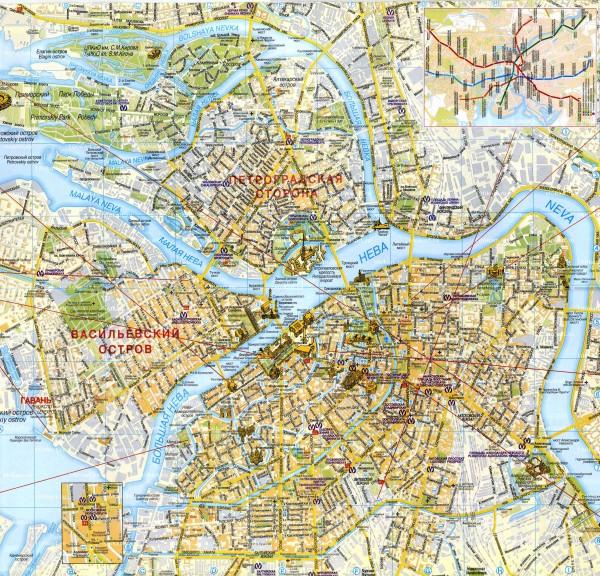 Карта дорог Петербурга
