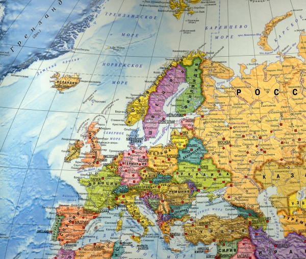Карта Европы на русском языке подробная
