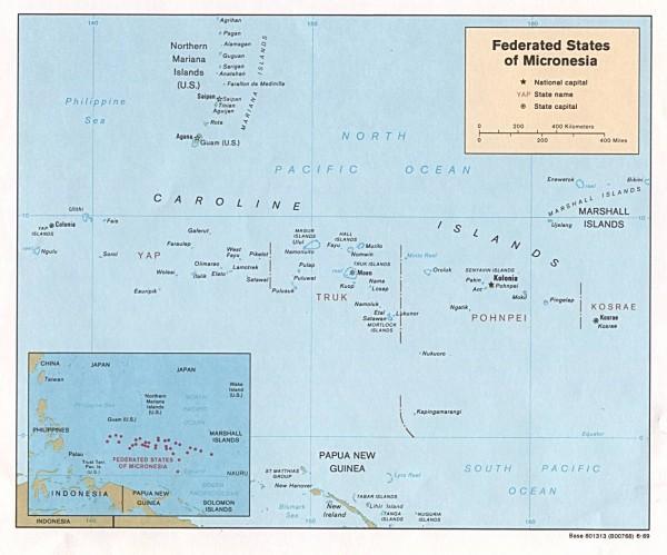 Карта Микронезии