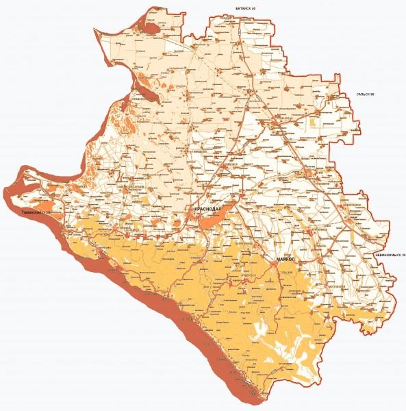 Карта Города Крымска С Улицами