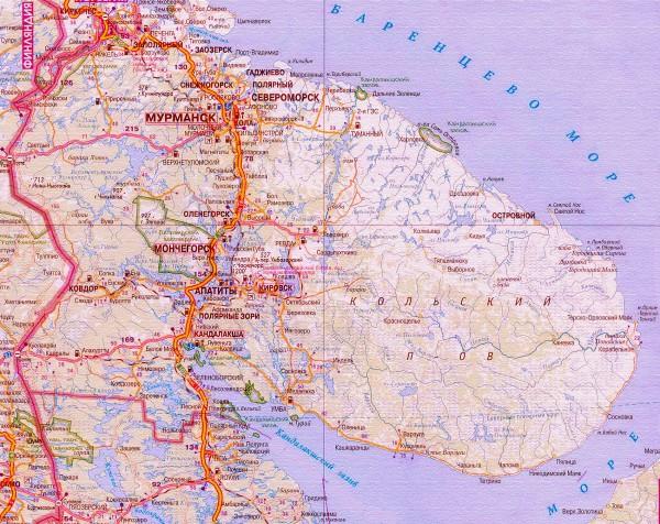 Карта Ковдора подробная: районы, названия улиц, номера домов
