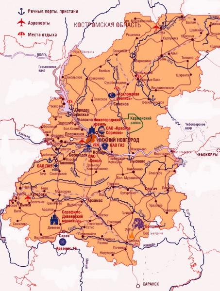 Карта Богородска Нижегородской Области С Улицами