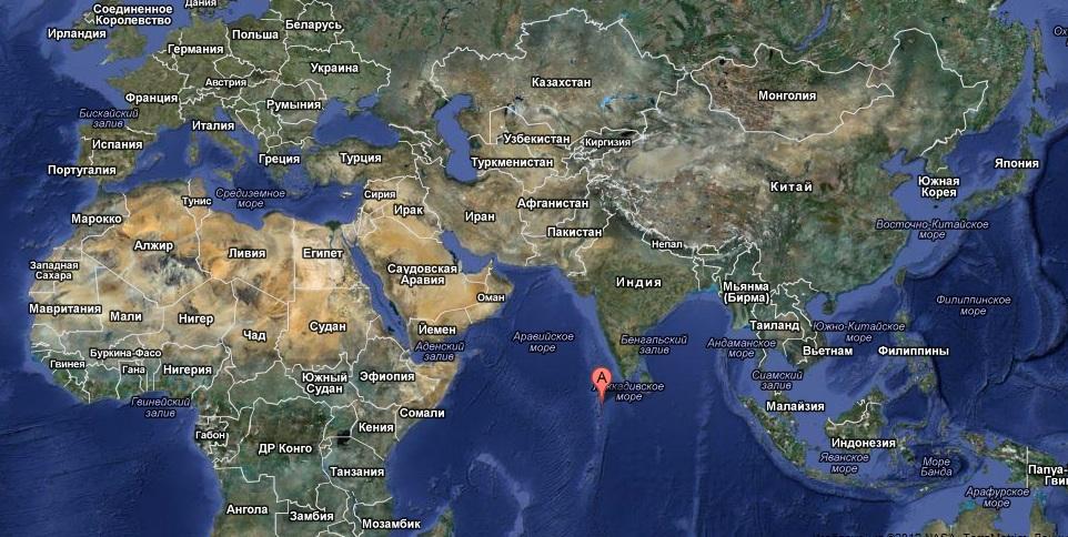 Где находится острова мальдивские на карте мира