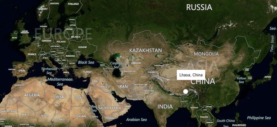 тибет где находится какая страна карта ходе исследований выяснилось