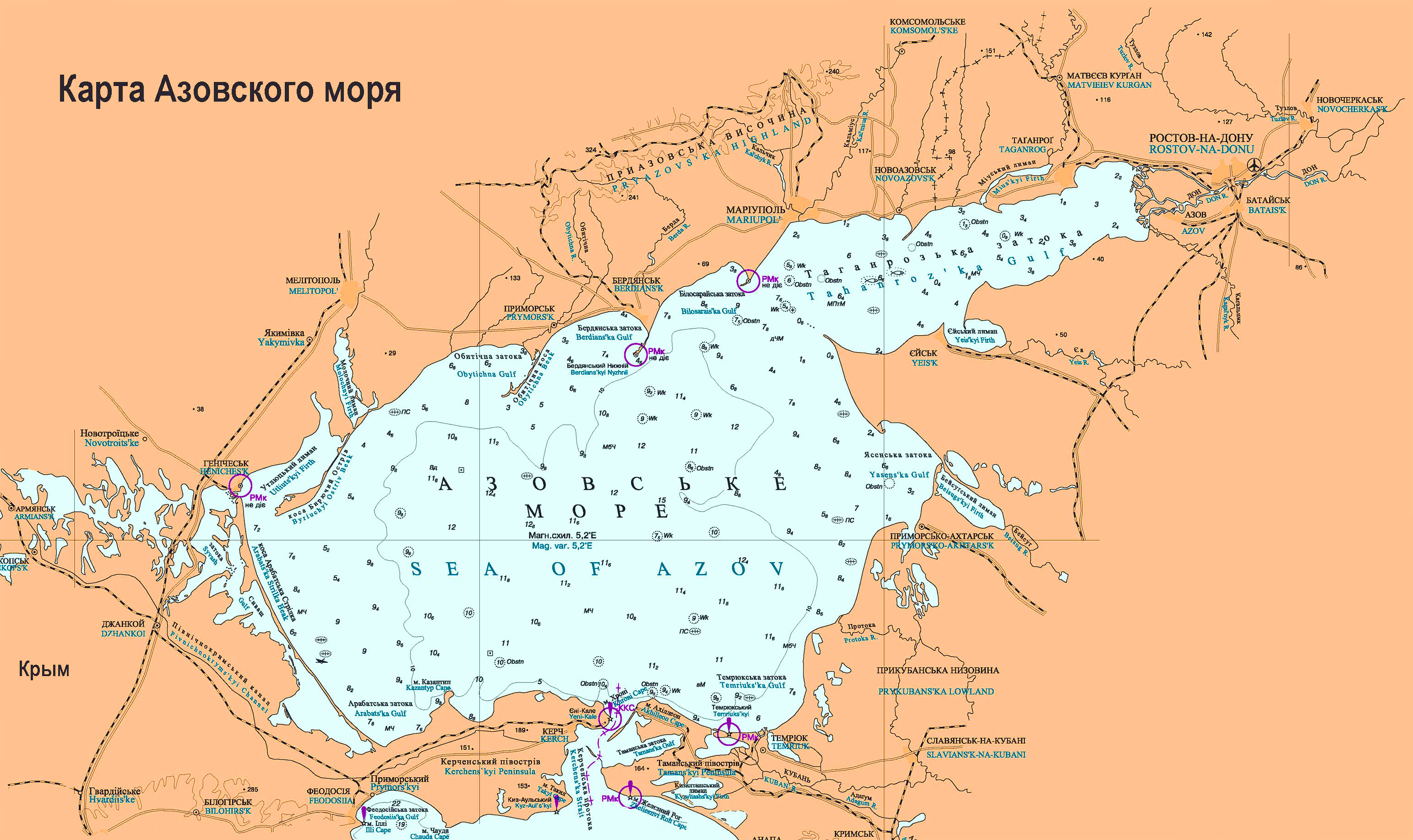 Азовское море. Карта побережья: http://haveall.net/azovskoe-more-karta-poberezhya/