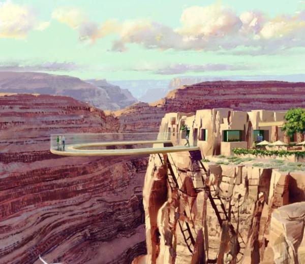 Skywalk в Гранд-Каньоне Колорадо