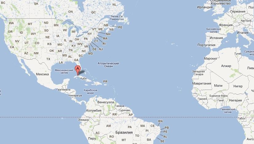 Kuba Na Karte Mira