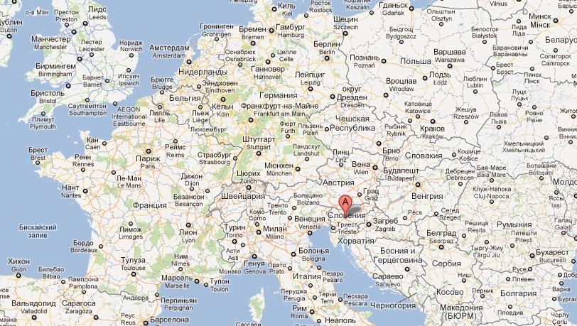 Sloveniya Na Karte Evropy