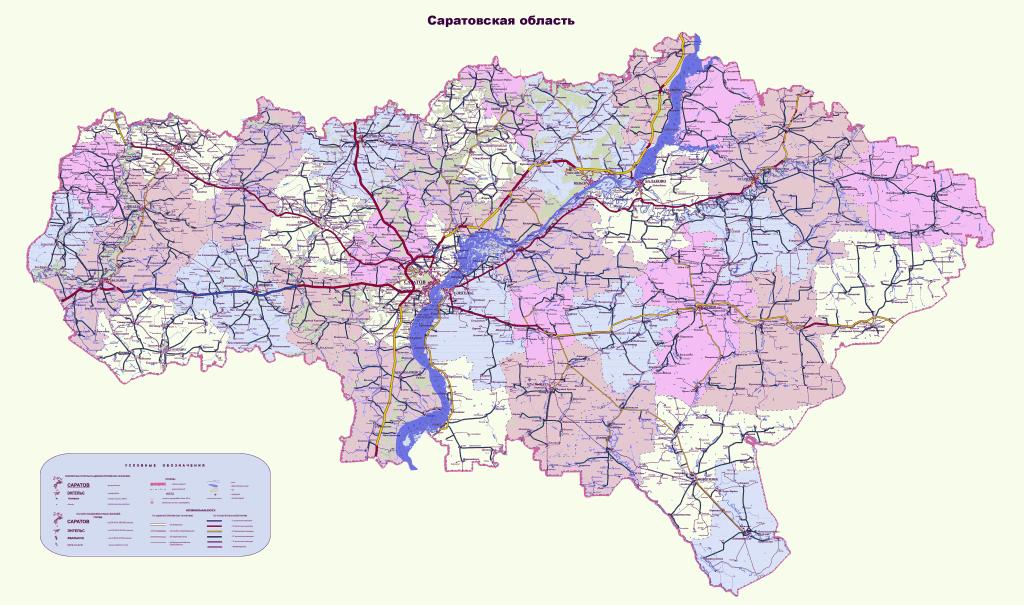 все саратовская область карта фото территории града