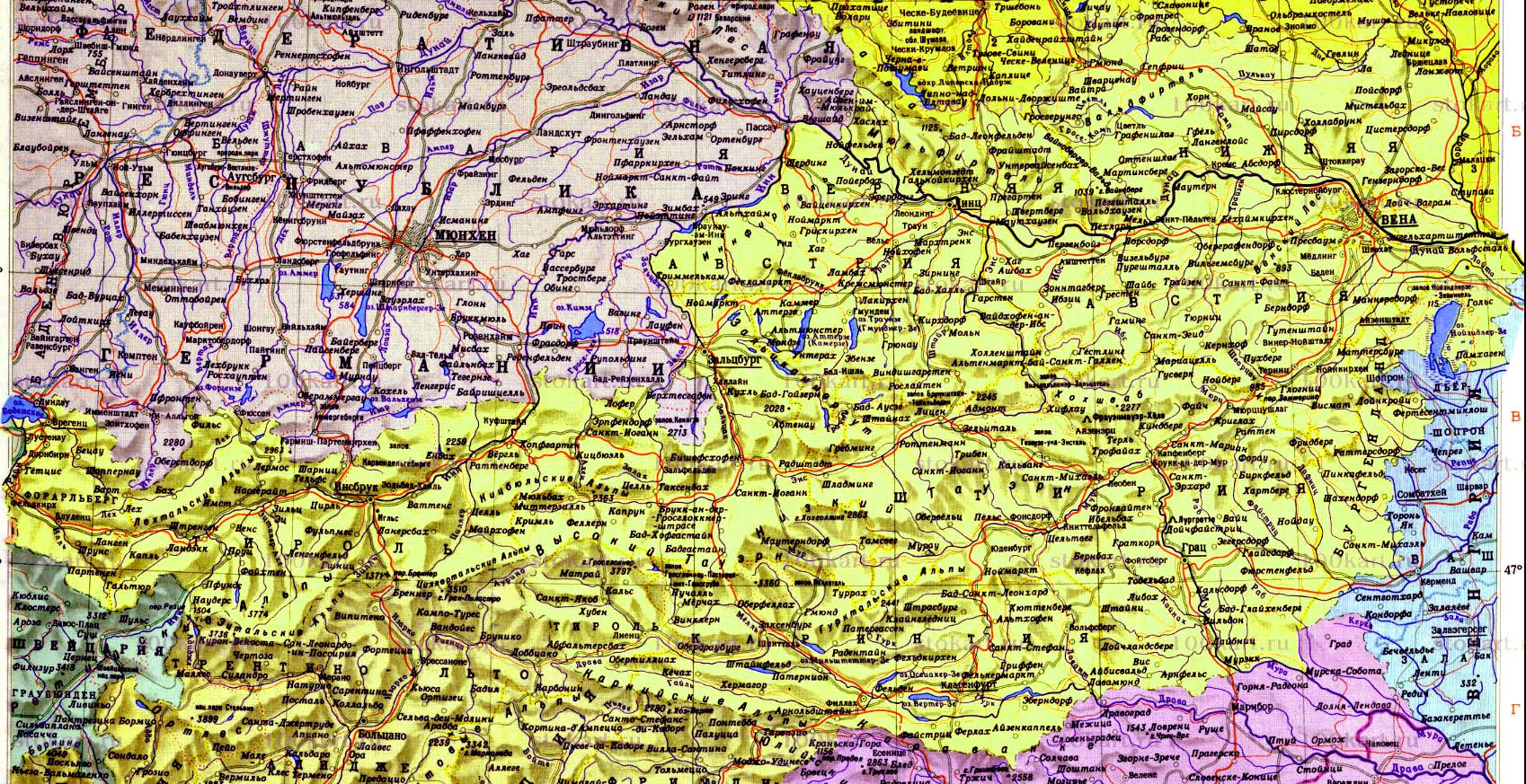 Karta Avstrii Na Russkom Yazyke