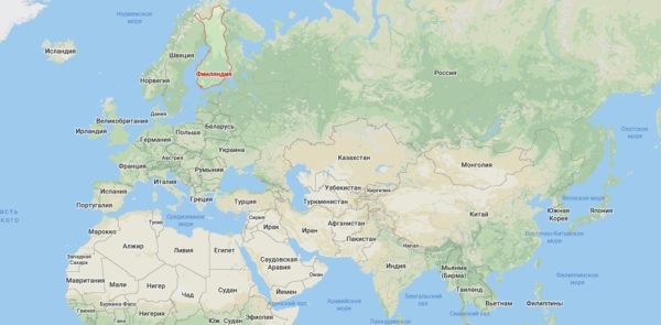 Где находится Финляндия на карте мира